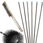 "View: Pro Quality Round Poly and WIre Heavy Duty 3/8"" NPT Chimney Cleaning Kits"