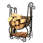 View: Wood Holders with Fireplace Tools