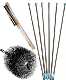 25 Foot Poly Brush Kits for Metal Flues (Brush 5-12 Inches)