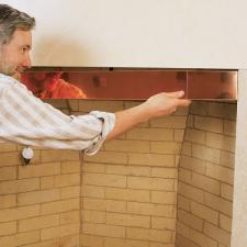 Fireplace Smoke Guard 4 Copper
