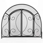 "View: Wrought Iron With Doors 39"" Wide x 32"" High Uniflame s-1096"