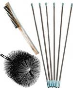 25 Foot Wire Brush Kits For Masonry Flues Brush 5 12 Inches