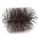 """View: 5"""" Round Heavy Duty Wire Chimney Brush - 3/8 Thread"""