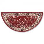 "View: 56"" Wide Burgandy Half Round Wool Hearth Rug H-35"