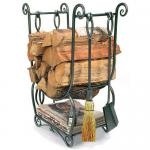 View: Country Wood Holder with Fireplace Tools Minuteman LCR07