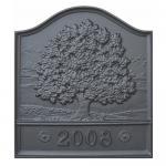 """View: Great Oak Pennsylvania Fireback- 20"""" H x 18"""" W"""