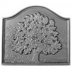 """View: Small Oak Pennsylvania Fireback - 16"""" H x 18"""" W"""