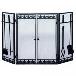View: Fireplace Screen with Doors and Tools CLEARANCE PRICE