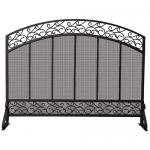 "View: Fireplace Screen - Black 44"" Wide x 34"" High Uniflame s-1324"