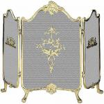 View: Solid Brass Fireplace Screen