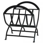 View: Black Wrought Iron Log Holder Uniflame w-1038