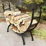 View: Stylish Curved Log Rack Uniflame w-1859