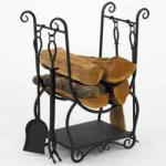 View: Black Wrought Iron Scroll with Tools Woodfield 61262